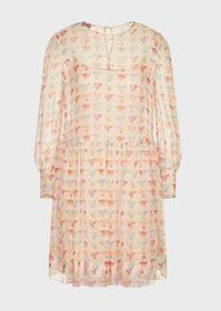 Armani Silk chiffon dress with watercolour eagle