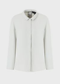 Armani Double silk Georgette shirt with buttons at