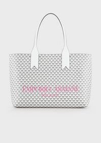 Armani PVC shopper with monogram and oversized log