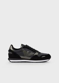Armani Suede sneakers with glitter details