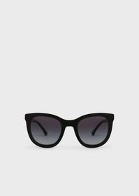 Armani Transparency lens square acetate sunglasses