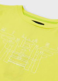 Armani Jersey T-shirt with logo & city print