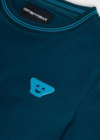 Armani Jersey T-shirt with Emoji patch