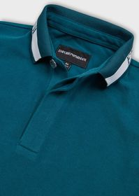 Armani Piqué polo shirt with logo collar