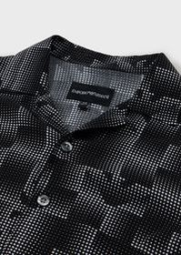 Armani Viscose shirt with optical print