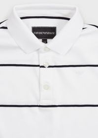 Armani Polo in jersey interlock a righe