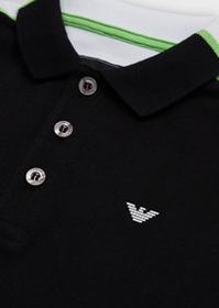Armani Two-tone piquet polo shirt