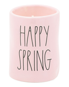 RAE DUNN 7.7oz Happy Spring Candle