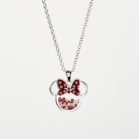 Womens Disney Silver Plated Minnie Mouse Pendant N