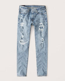 Ripped Super Skinny Jeans, LIGHT RIPPED WASH
