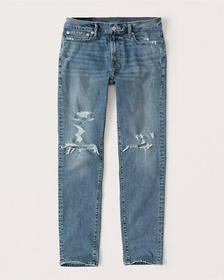Ripped Skinny Jeans, MEDIUM RIPPED WASH