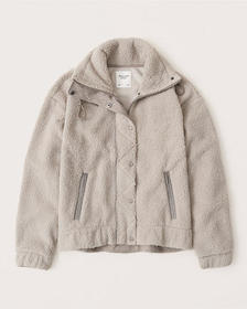 Sherpa Jacket, LIGHT TAUPE