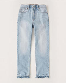 High Rise Ankle Mom Jeans, LIGHT WASH