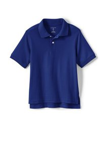 Lands' End Boys School Uniform Short Sleeve Interl