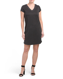 C&C CALIFORNIA Short Sleeve V-neck Dress