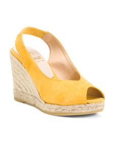 KANNA SHOES Made In Spain Suede Wedge Sandals