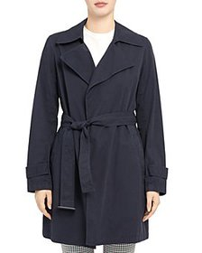 Theory - Oaklane Belted Short Trench Coat