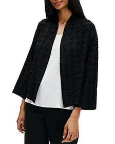 Eileen Fisher - Organic Cotton Textured Kimono Jac