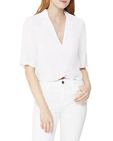 BCBGeneration - Cropped Twist Front Top