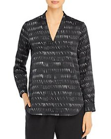 Eileen Fisher - Printed V-Neck Top