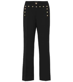 Givenchy Mid-rise flared wool pants