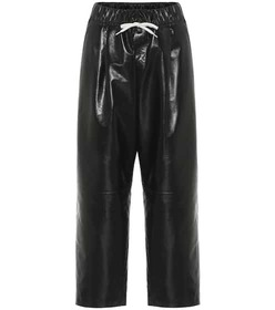 Givenchy Cropped high-rise leather pants