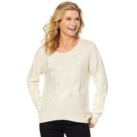 """""""As Is"""" Curations Embroidered Sweater"""