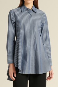 DKNY Paneled Stripe Print Shirt