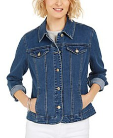 Denim Jacket, In Regular and Petite, Created for M
