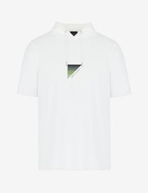 Armani SLIM-FIT TEE WITH LOGO LETTERING