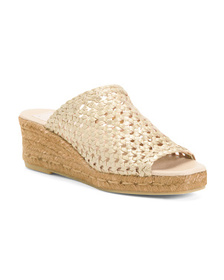 Made In Spain Woven Leather Wedges