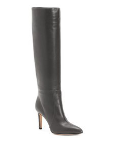 Reveal Designer Made In Italy Leather High Heel Bo