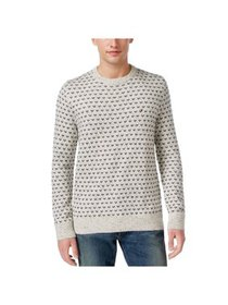 Tommy Hilfiger Mens Geometric Pullover Sweater