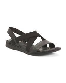 BORN Leather Comfort Flat Sandals
