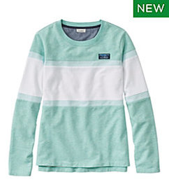 LL Bean Women's Soft Cotton Rugby, Crewneck Colorb