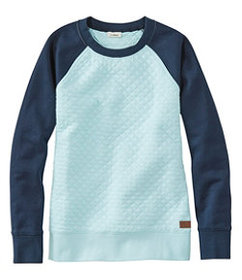 LL Bean Women's Quilted Sweatshirt, Crewneck Color