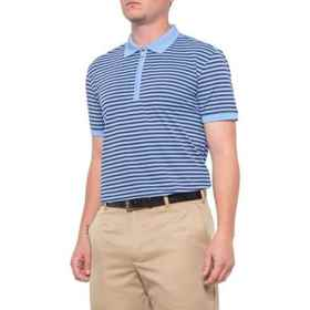 Bobby Jones Rule 18 Feeder Stripe Shirt - Zip Neck