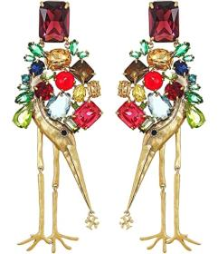 Tory Burch Articulated Stone Earrings