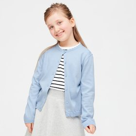 Girls Uv Protection Supima® Cotton Crew Neck Cardi