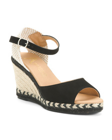 PASEART Made In Spain Suede Wedge Sandals