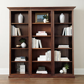 Tuscan Left Bookcase - Tuscan Brown