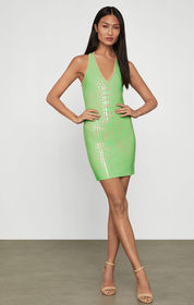BCBG Vinyl Bodycon Dress