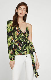 BCBG Bird of Paradise Wrap Top