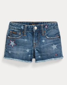 Ralph Lauren Star Cotton Denim Short