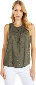 Lucky Brand Printed Henley Tank