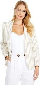 Vince Camuto Cotton Yarn-Dyed Stripe Blazer w/ Fri