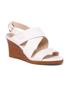 COLE HAAN Leather All Day Comfort Wedge Sandals