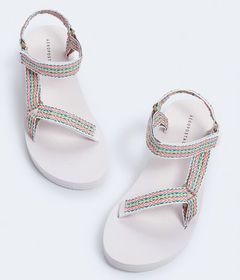 Aeropostale Colorful Textured Flatform Sandal