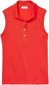 Lacoste Sleeveless Slim Fit Pique Polo
