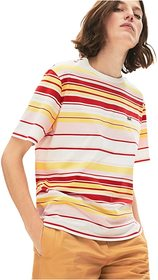 Lacoste Short Sleeve Striped Tee